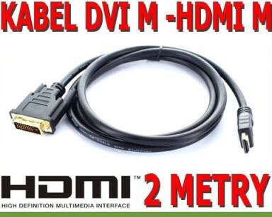 KABEL HDMI TO DVI 2M