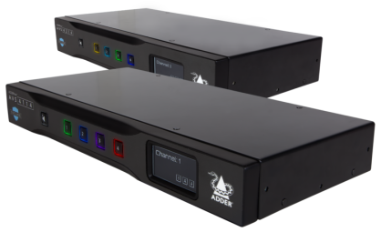 AVS-4214  AdderView Secure  4-port DP/HDMI 4K/60 DUAL HEAD