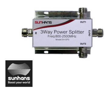 Splitter Sunhans SH-SP3 3WAY GSM/3G/4G 800-2500MHZ